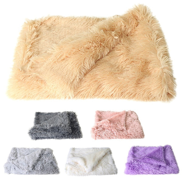 Fluffy Long Plush Pet Blankets Deep Sleeping Soft