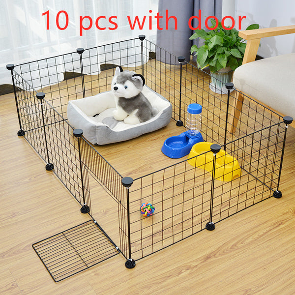 Foldable Pet Playpen Fence Puppy Kennel House for Dog