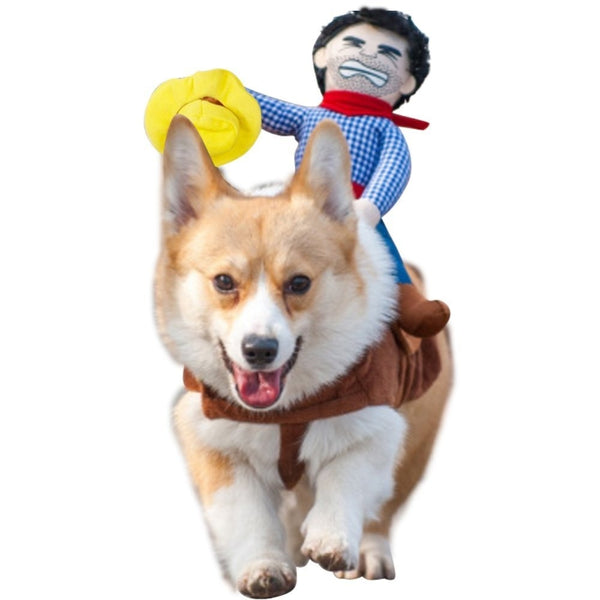 Gomaomi Pet Dog Costume Pet Suit Cowboy Rider Style Clothes