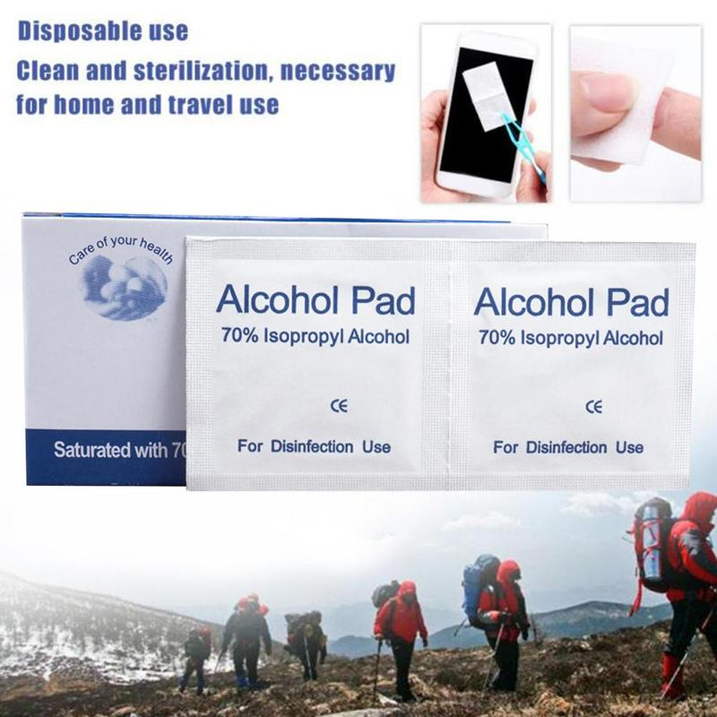 (Buy 2 Get 1 Free) Alcohol Wet Antiseptic Wipe Disposable Skin Cleaning Care Disinfecting Wipe