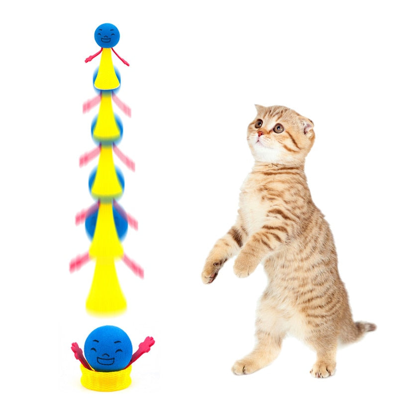 2pcs/set Funny Jumping Cat Toy Pet Cat Bouncing