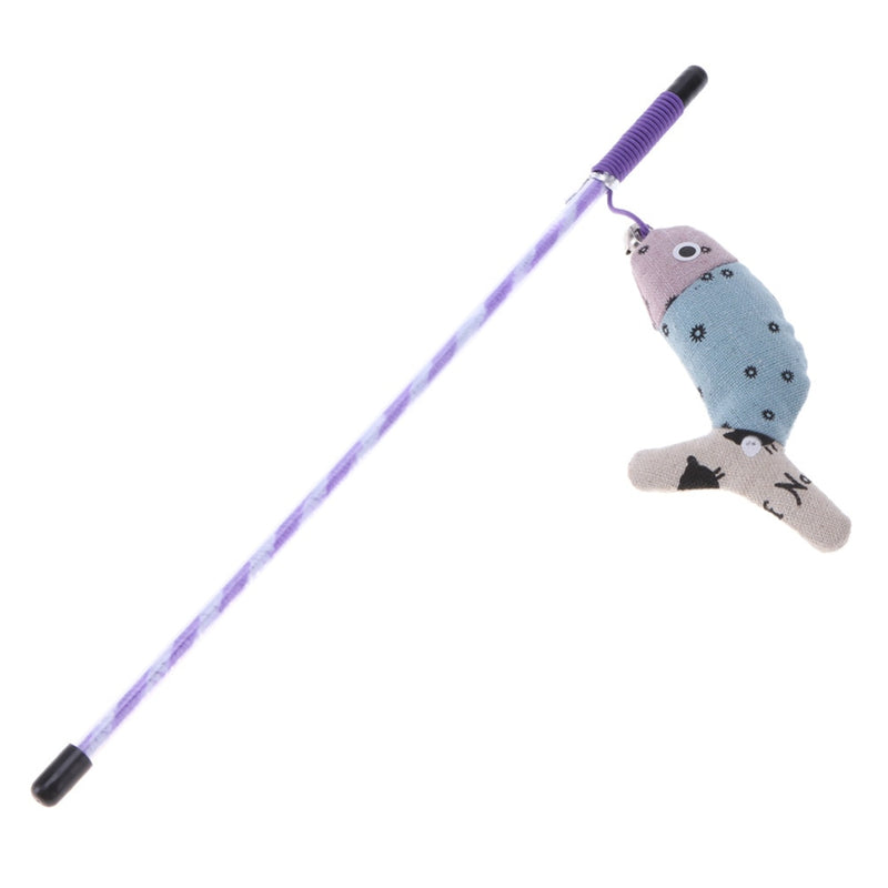 Cat Toys Cute Colorful Rod Teaser Wand Plastic