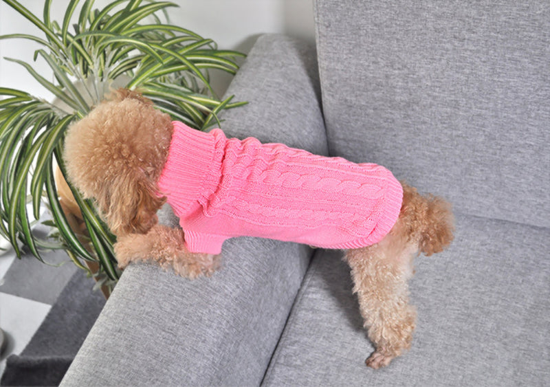 Pet Dog Cat Clothing Warm Cat Knitted Sweater