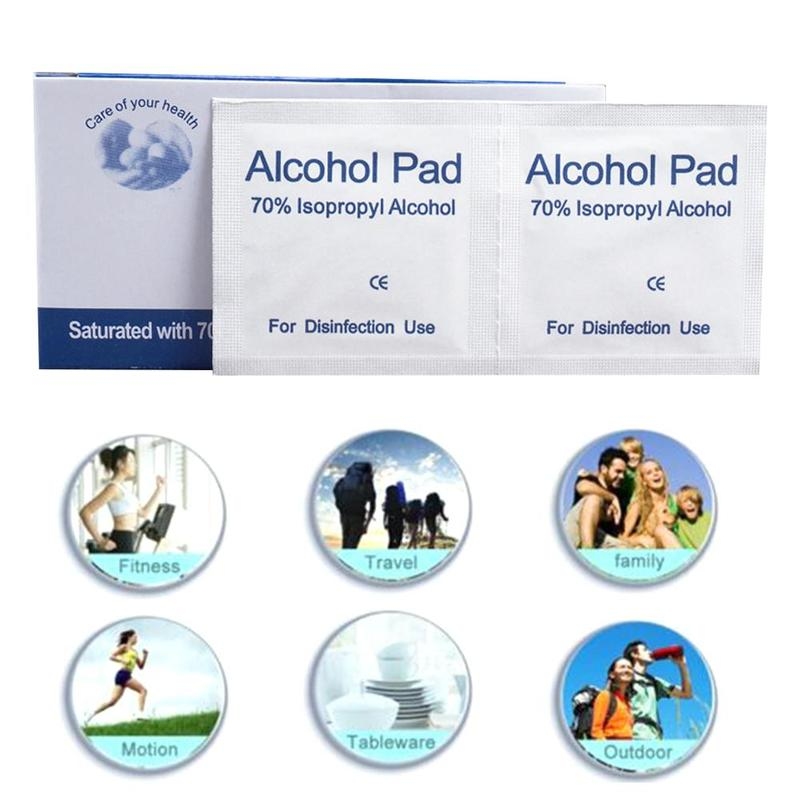 (Buy 3 Get 1 Free) Alcohol Wet Antiseptic Wipe Disposable Skin Cleaning Care Disinfecting Wipe