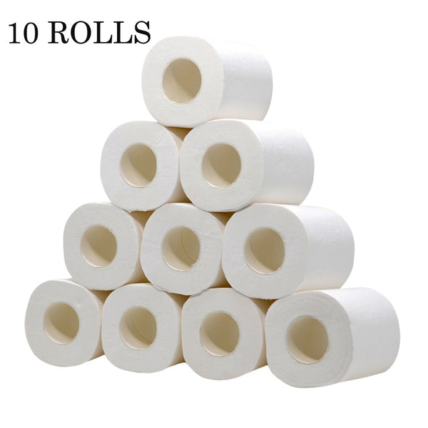 IN STOCK Fast Shipping 10 Rolls/lot Toilet Roll Paper 4 Layers