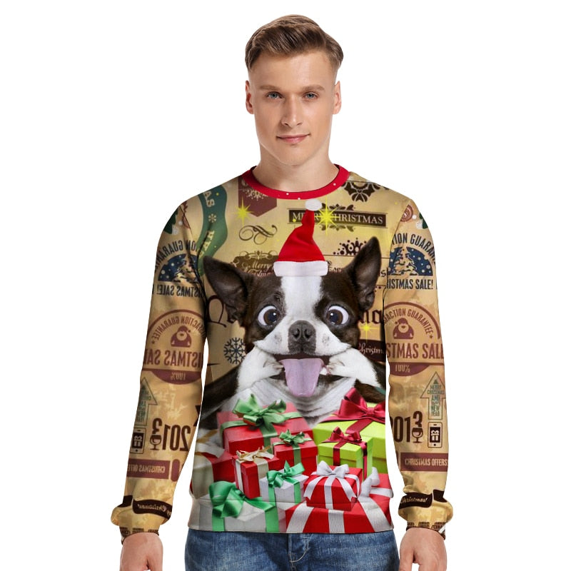 Women Christmas Sweater Men Pullover Winter Plus Size