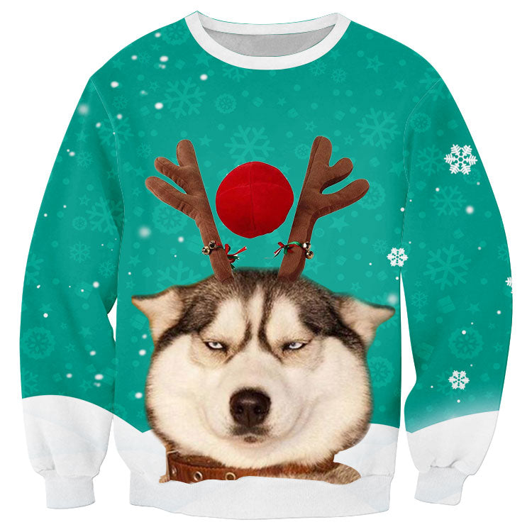 Women Men Christmas Sweater Autumn Clothing Dog Strange