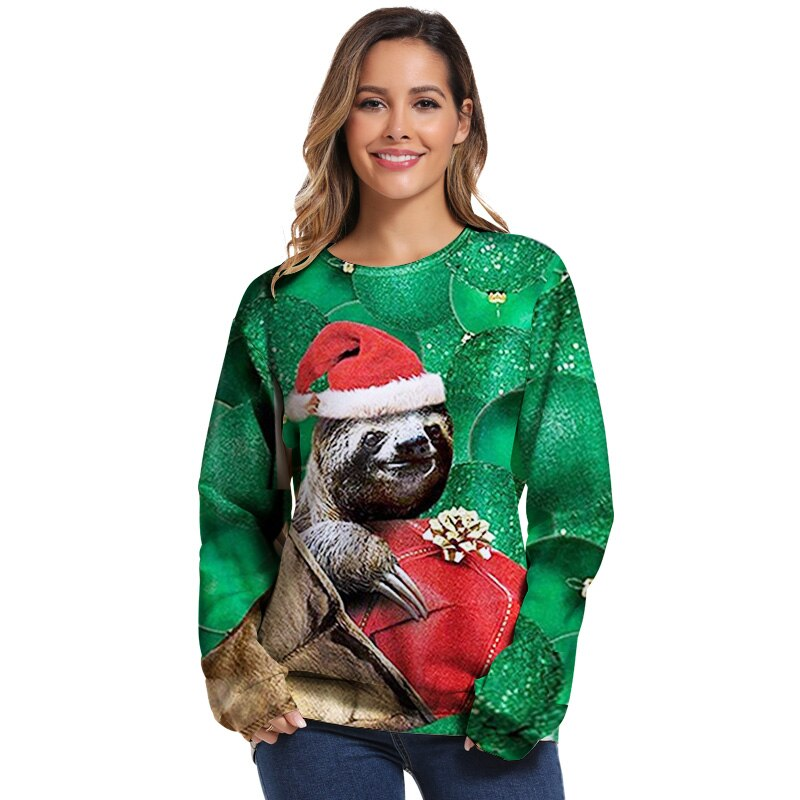 Women Men Christmas Sweater Funny Autumn Tops Clothing
