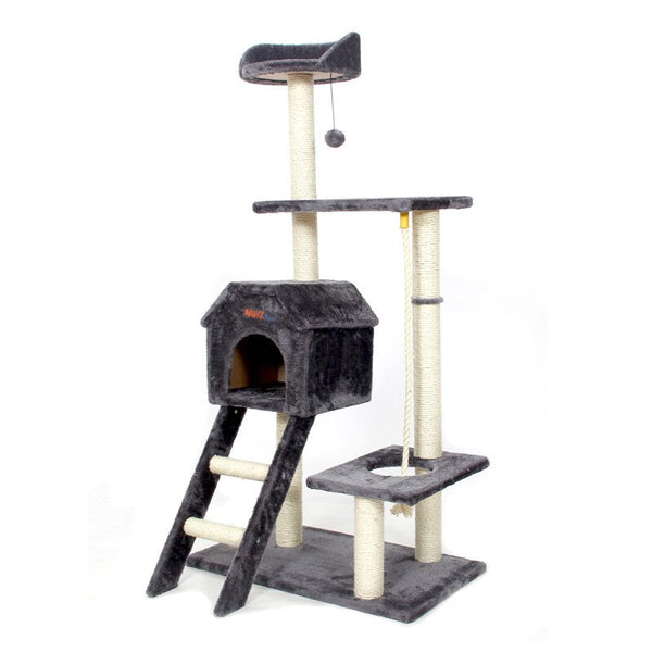 Cat Jumping Toy with Ladder Scratching Solid Wood
