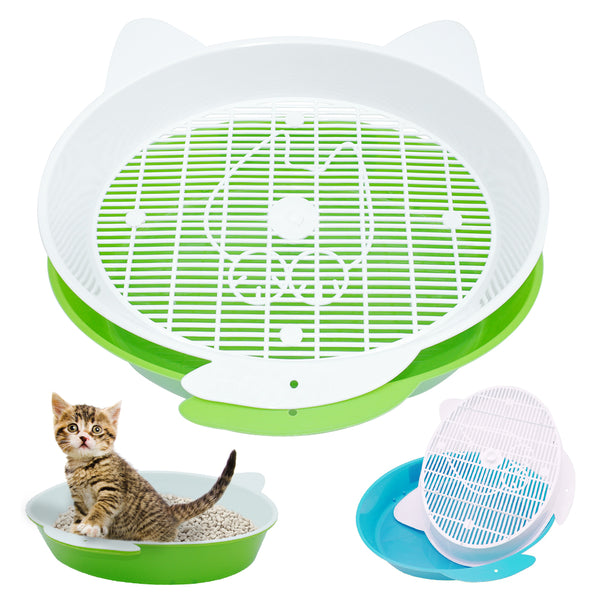 Pet Cat Plasti Toilet Bedpans for Small Animal Litter Training Tray