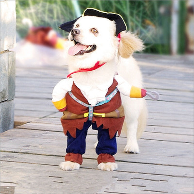 Pet Clothes Cosplay Pirate Halloween Cute Costume For Small Medium