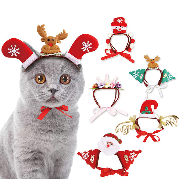 Pet Dog Cats Cosplay Headdresses Christmas Halloween