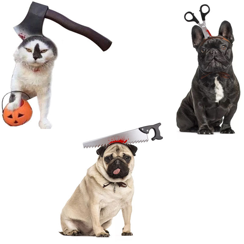 Pet Dog Cats Halloween Hats Cosplay Dressing Up