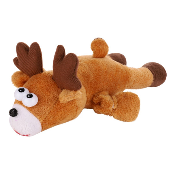 Pet Dogs Chew Toys Christmas Elk Christmas
