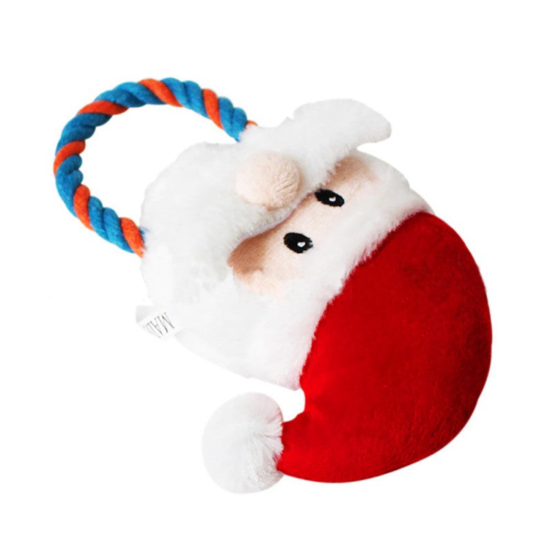 Pet Dogs Christmas Gift Santa Shaped Chew Toys