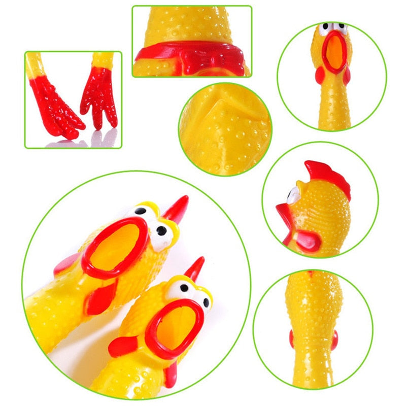 Squeak Vent Chicken Screaming Sound Dog Toys