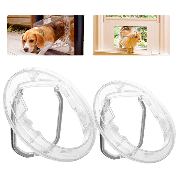 Transparent Pet Dog Flap Door for Kitty and Puppies