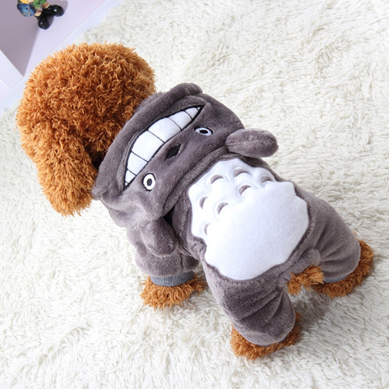 Warm Soft Fleece Pet Cartoon Costumes for Small Dogs