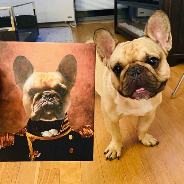 Commander Custom Pet Portrait Canvas