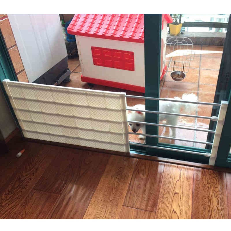 Pawstrip 2 Size Adjustable Pet Gate Dog Fence Indoor Playpen
