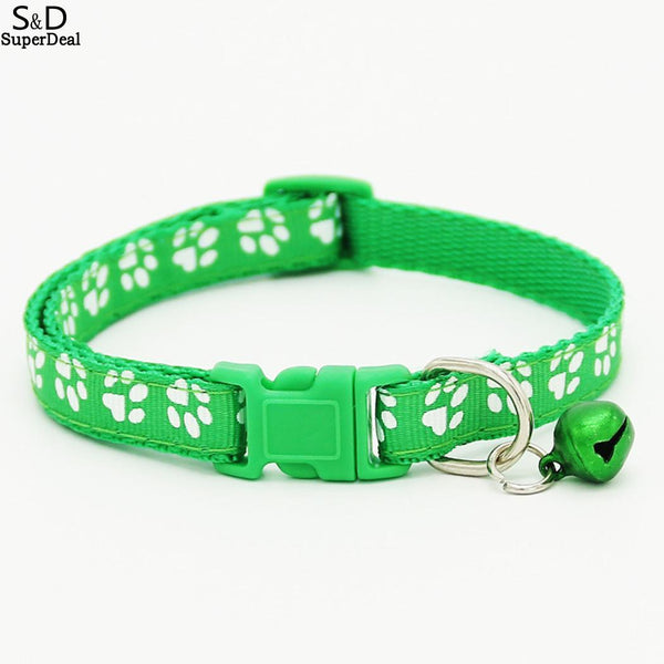 Pet Cat Leash Collars Different Bell Cat Footprint