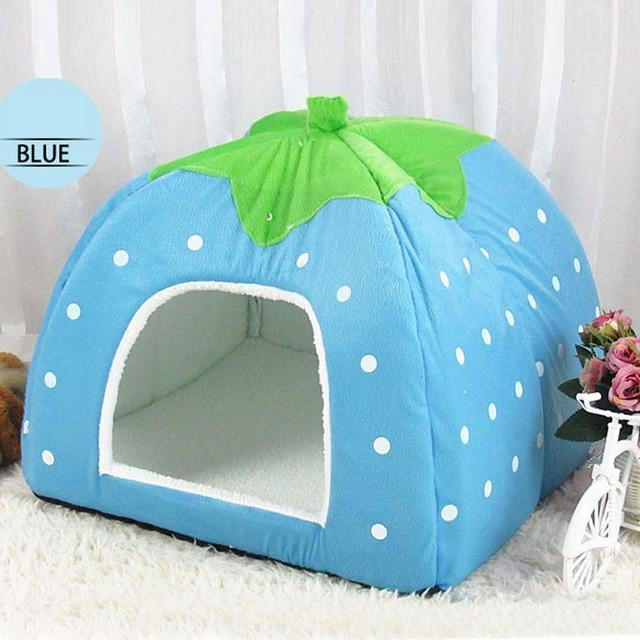 High Quality Strawberry Leopard Print pet  house