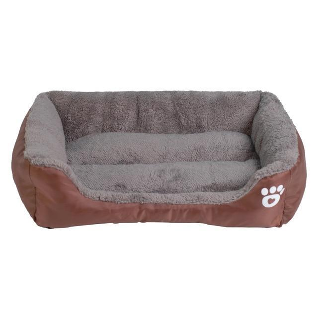 9 Colors Paw Pet Sofa Dog Beds Waterproof Bottom Soft Fleece Warm Cat Bed House