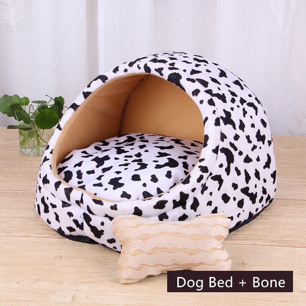 Pet Dog Bed Warming Soft Material House