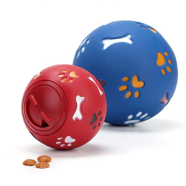Dogs Leak Food Puzzle Ball Interactive IQ Treatment Training Dog Bite Rubber Ball Pet Toys