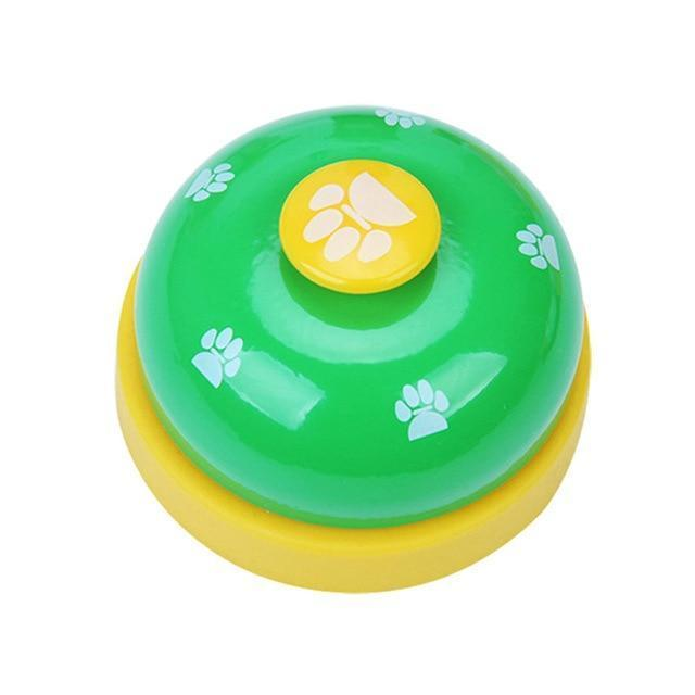 IQ Training Pet Toy Training Called Dinner Small Bell Footprint Ring Dog Toys