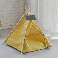 Intelligent pet house tent wooden movable house with pad pet supplies pad