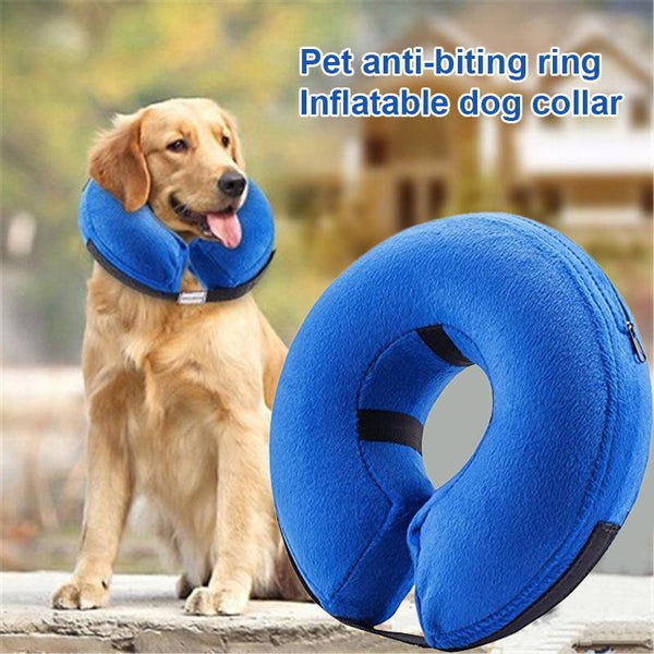 Dog Pet Collar Inflatable Anti-bite Injury Recovery Neck Protective Surgery Cone LBShipping