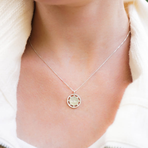 BIG SIS LIL SIS Necklace, Big Sister Little Sister Pendant, Double-Sided Pendant, Sterling Silver, Gold Plated