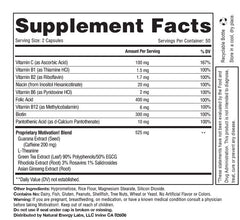 Motivation!: Herbal Caffeine + Energy Vitamin Supplement Supplement Facts