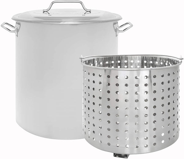 CONCORD Stainless Steel Stock Pot w/Steamer Basket