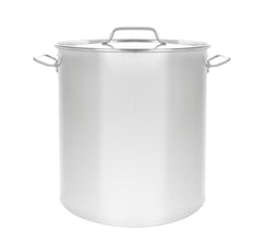 Series 3 Stainless Steel Brew Kettle w/ Flat Lid. (Avail. in 20 - 180 QT)