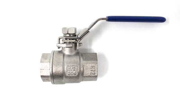 "1/2"" Female NPT Stainless Steel Ball Valve"