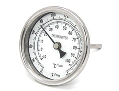 "3"" Glass Dial Thermometer"