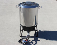 S-Series Stainless Steel Brew Kettle w/ Banjo Burner - Concord Kettles - 1