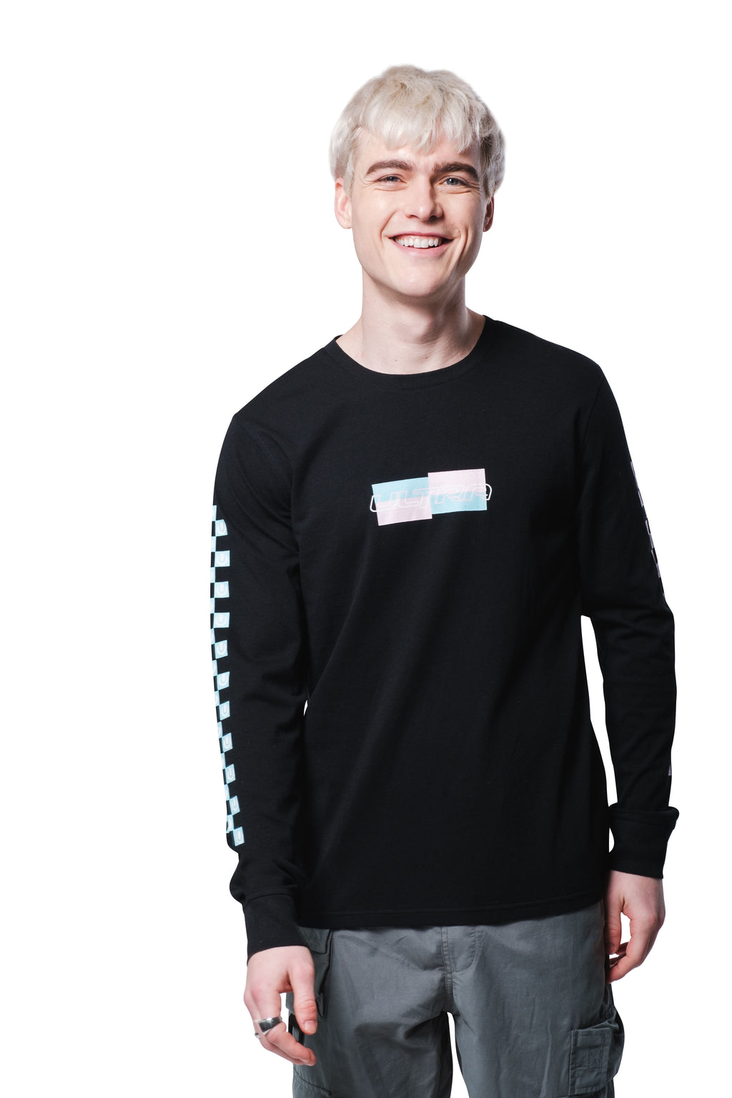 Ultra Pastel L/S Checker Tee