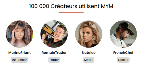 100 independent creators thanks to MYM | Ahegao.fr