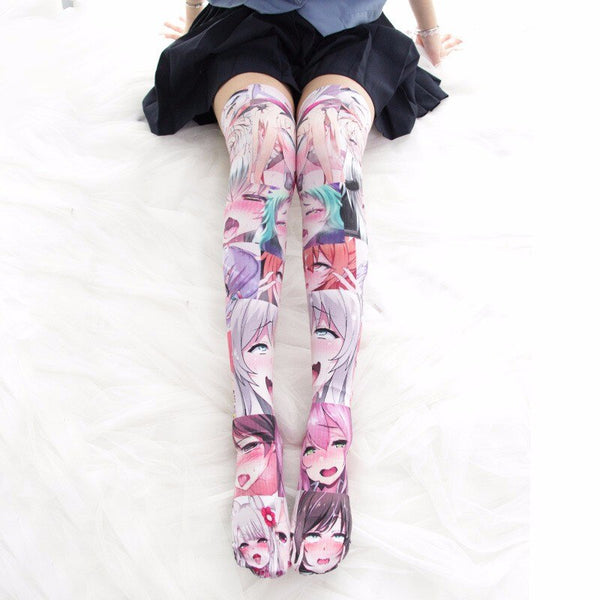 Colorful tights Ahegao | Ahegao.fr