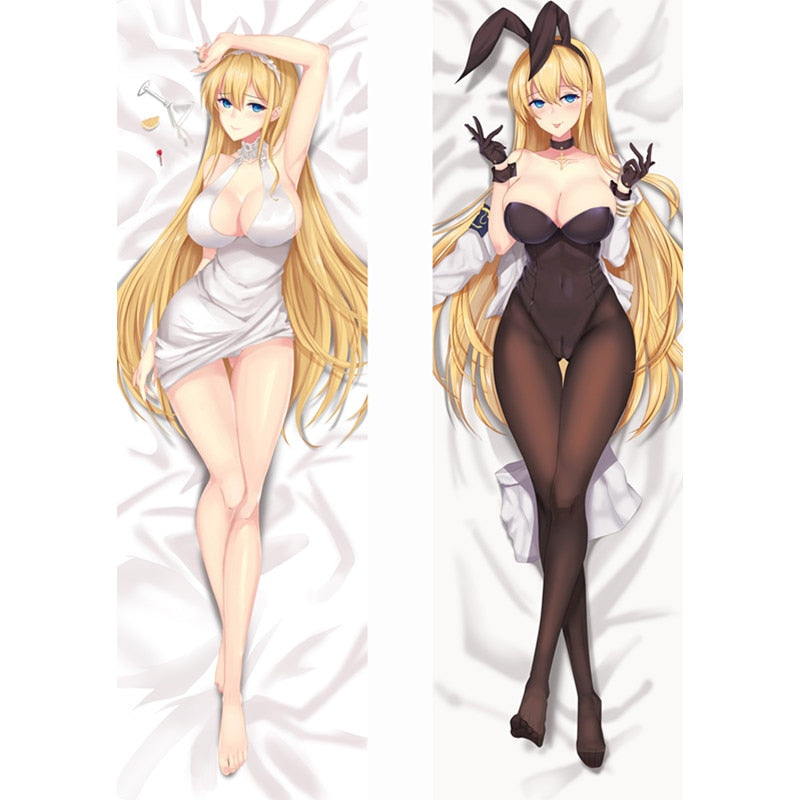 Dakimakura Blonde uniform rabbit | Azur Lane | Ahegao.fr