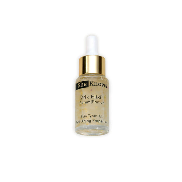 24k Elixer, 2-in-1 Serum | Primer