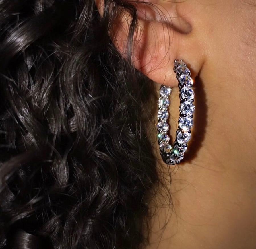 CZ SMALL HOOPS