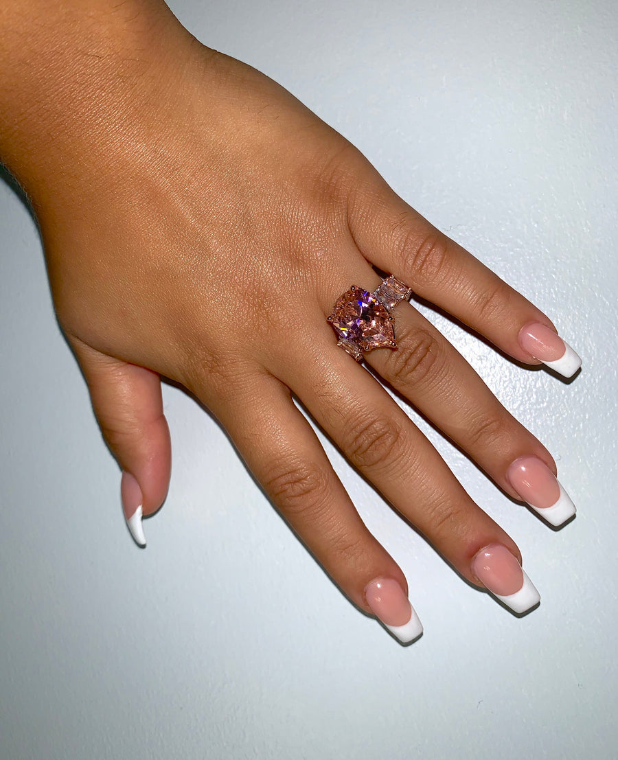 PINK UNBOTHERED RING