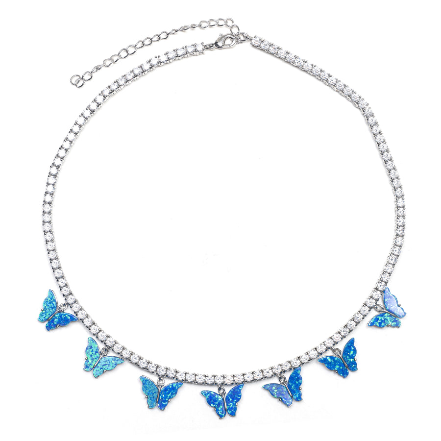 OPAL BUTTERFLY NECKLACE