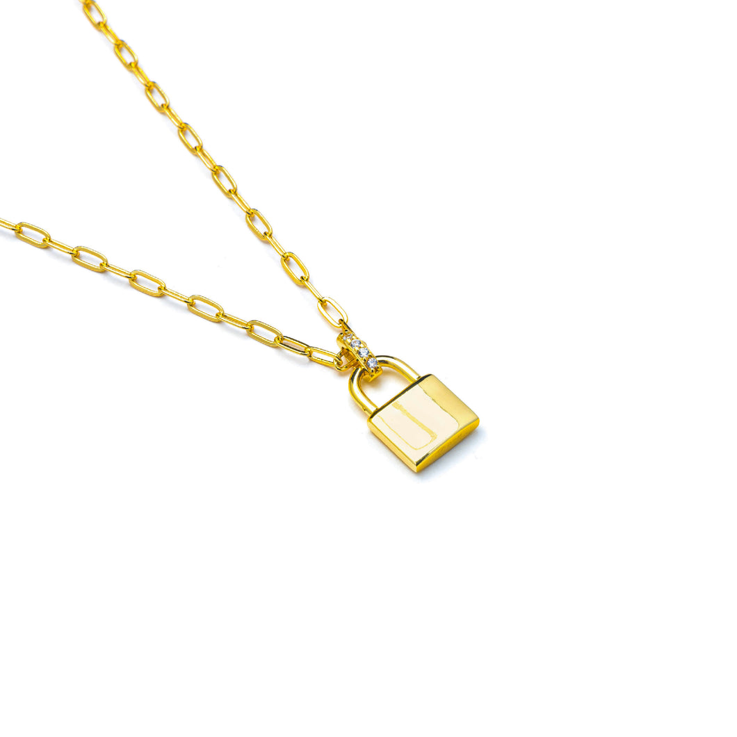 MINI LOCK YOU DOWN NECKLACE
