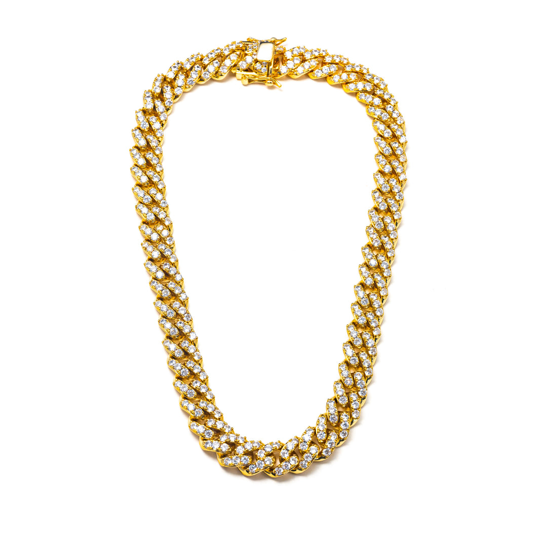 CLASSIC ICY CUBAN LINK NECKLACE