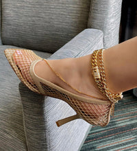 Load image into Gallery viewer, GOLD CUBAN LINK ANKLET
